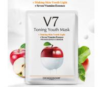 Тканевая маска Bioaqua V7 Toning Youth Mask из фруктовой серии с экстрактом Яблока (молодость + тонус)
